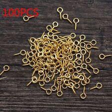 100 PCS Eye Pins DIY Jewelry Accessories Threaded Pendant Screw Hole Hooks