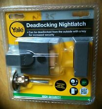 YALE HIGH SECURITY DEADLOCKING NIGHTLATCH CYLINDER P-85-DMG-PB-40mm BACKSET