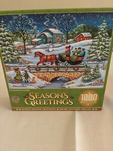 Season's Greetings 1000 Piece Puzzle Over The River