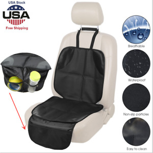 Auto Seat Cover Mat for Baby Child Car Seats Waterproof 300D Fabric INFANZIA Car Seat Protector with Thickest Padding Beige PVC Leather Reinforced Corners /& 2 Large Pockets for Handy Storage