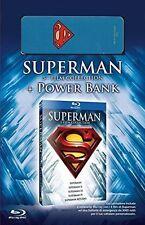 Superman Collection (5 Blu-Ray + Power bank 3000 mAh) Anthology Nuovo
