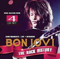 BON JOVI - THE ROCK HISTORY  4 CD NEU