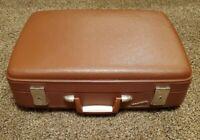 VINTAGE mid-century WAYFARER hard shell plastic Brown RETRO ladies Suitcase