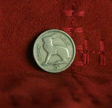 Ireland 3 Pence 1942 Copper Nickel World Coin Irish Harp Hare Rabbit KM12a Eire