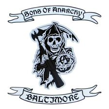 More details for sons of anarchy - logo, upper rocker and lower rocker with your own text embroid