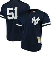 Authentic Mitchell & Ness New York Yankees #51 Baseball Jersey New Mens $110