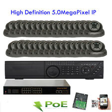 32Channel Nvr 5Mp 2592x1920P 220e PoE Ip Onvif Ip66 48Ir Security Camera System