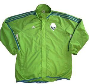 Seattle Sounders MLS Adidas Men's XL Jacket Zip Up Soccer