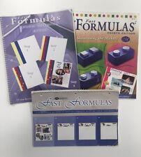 Set of 3 Creative Memories Fast Formulas Scrapbooking Page Layout Design Books
