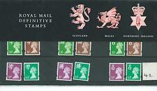 GB - PRESENTATION PACK - PACK NO 42 - MACHIN DEFINITIVES - REGIONALS-  to 63p