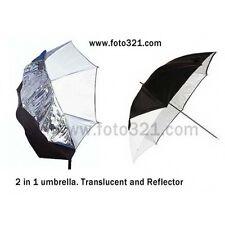 Paraguas traslucido y reflector 100cm