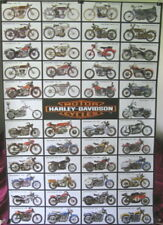 Harley-Davidson 46 motorcycles 1907-80 history POSTER 23.5x 34 compartmentalized