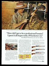 1964 Winchester slide-action 22 270 rifle David Ommanney Africa photo print ad