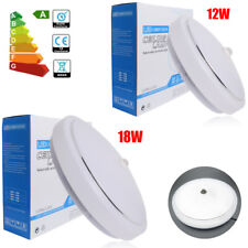 Bright 12W 18W PIR Motion Sensor LED Flush Mount Ceiling Light Downlight Fixture
