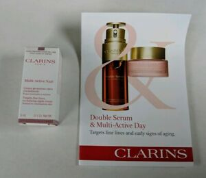 CLARINS Multi Active Nuit Cream Double Serum Multi Active Day Samples Travel