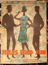 Jules und Jim - Filmplakat - Francois Truffaut - Zweiseitig - EA