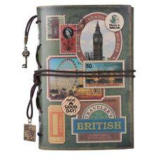 NEW! Leather Journal Personal Organizers Notebook, MALEDEN Spiral Bound Traveler