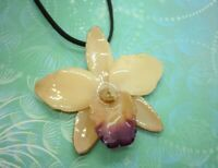New Stunning White Ivory Cream Real Orchid Flower Necklace - unique gift for mum