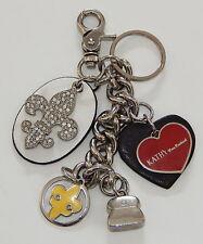 Kathy Van Zeeland KVZ Fleur De Lis Purse Charm Keychain R8648