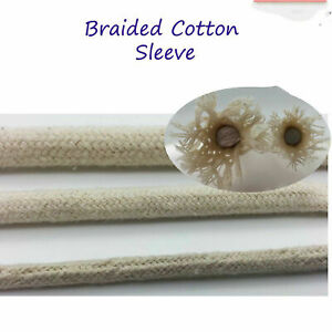 Cotton Tube Sheath Cover Cable Wire Sleeve Sleeving  Blue,Yellow Green colour