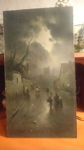 """Very Early Print of """"Northop Village"""" By J W GOZZARD"""