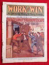 Work and Win Weekly #735 1913 Original RARE Comic Book Pulp  Dime Novel Nickel
