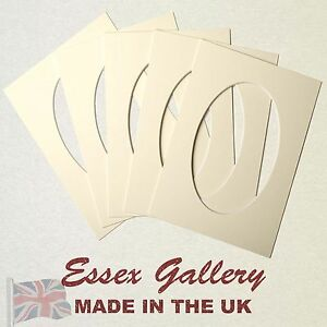 OVAL/ROUND Picture And Photo Mounts - Frame Mounts - CREAM