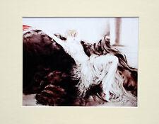 "Louis Icart Mounted Print - Laziness LC4 - Erotic Art  SIZE  14"" X 11"""