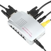 PC Laptop VGA to TV RCA Composite S-video Converter Adapter Switch Box