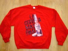 Corona Extra Beer Crewneck Sweatshirt Red Mens L Large Le Cerveza Mas Fina ! New