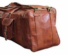 "28"" Bag Leather Overnight Travel Duffle Gym Genuine Luggage Weekend Men & Women"