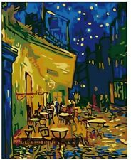 Night Out Evening Stars Street Scene Van Gogh Style Paint By Numbers Canvas Art