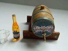 (HH13) DOLLS HOUSE HANDMADE WOODEN BEER BARREL ON A STAND