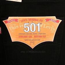 Levis 501 Jeans New BLACK Size 31 x 34 Mens Original Button Fly #801