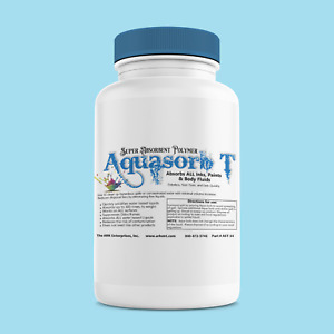 16 ounce Sodium Polyacrylate Diaper Polymer Absorbs 300X Wt Aqua Sorb