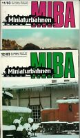 MIBA Minaturbahnen - Nr. 11 + 12 - 1983 - Zeitschrift Heft Eisenbahn - B24162