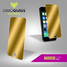 DimoGlass iPhone 5/5s Screen Protector Gold Mirror Glass Lifetime Replacement
