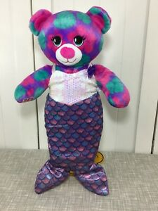 "💜 Build a Bear Tropical Palm Leaves Bear Plush 16"" w/ Mermaid Costume 💜"
