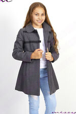 NEW GIRLS WOOL BLEND COAT GIRLS JACKET Lined CLOTHING SCHOOL AGE 7-13 WINTER WOR