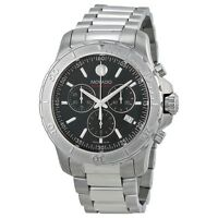 NEW Movado Series 800 Chronograph Black Dial Steel 2600110 Mens Swiss Watch