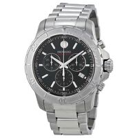 NEW Movado Series 800 Chronograph Black Dial Steel 2600110 Mens Swiss Watch