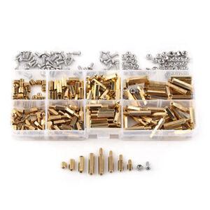 300pcs M3 Brass Hex Column Standoff Spacer Screw Nut Assortment Waterproof