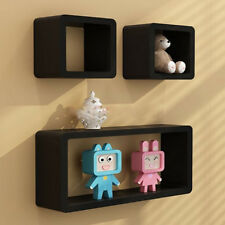 Set of 3 Floating Wall Shelves Storage Display Shelf, Cube Decor Contemporary
