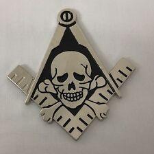 New Freemason Masonic Hiram Abiff Widows Son Cut-Out Car Emblem