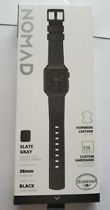 Nomad Slate Gray Apple Watch Leather 38 MM Horween Leather Strap Series 1, 2, 3