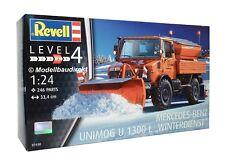 Mercedes Unimog 1300l invierno servicio camión camión 1:24 kit Revell 07438 nuevo & OVP