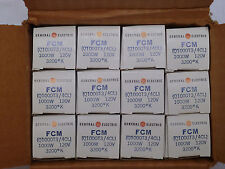 12 - FCM GE 1000w 120v Box of 12 - NEW  R7 Base T3 Shape General Electric