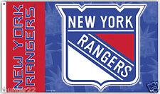 Huge High Quality 3' x 5' New York Rangers NHL Licensed Flag - Free Shipping