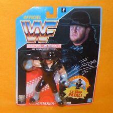 VINTAGE 1992 HASBRO WWF WRESTLING SERIES 4 THE UNDERTAKER FIGURE MOC CARDED RARE