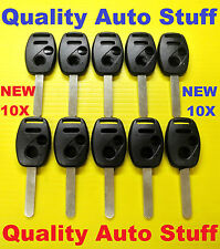 New Set Lot of 10 Remote Head Key Shell Case 3 Button W/ Transponder Space 10X